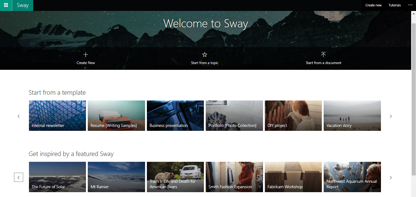 https://sway.office.com