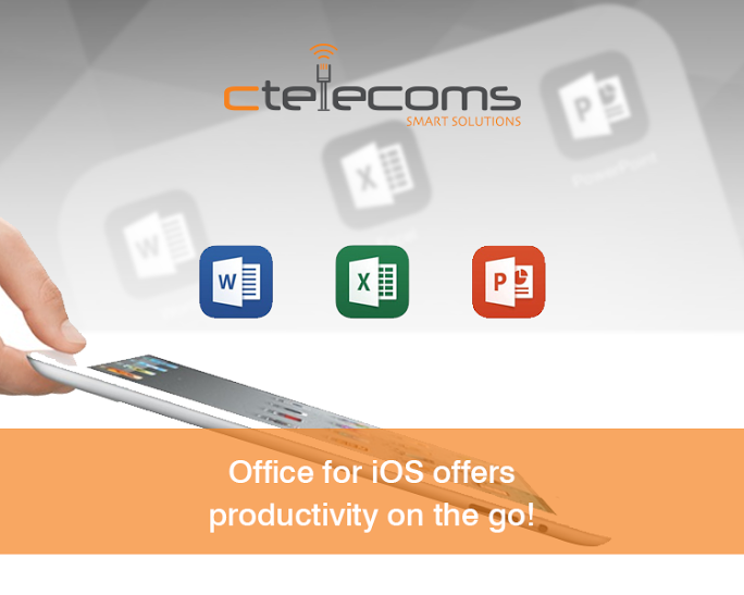 office for ios offers productivity on the go