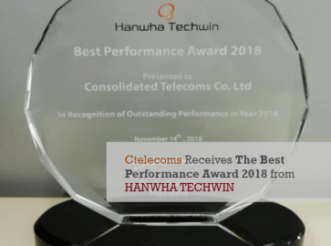 Ctelecoms Receives The Best Performance Award 2018 from HANWHA TECHWIN