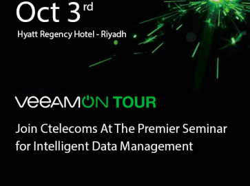 Ctelecoms is The Silver Sponsor of VeeamOn Tour in Riyadh 2018!