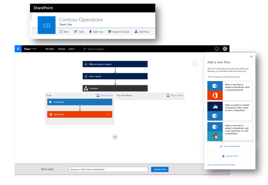 Microsoft Flow and PowerApps